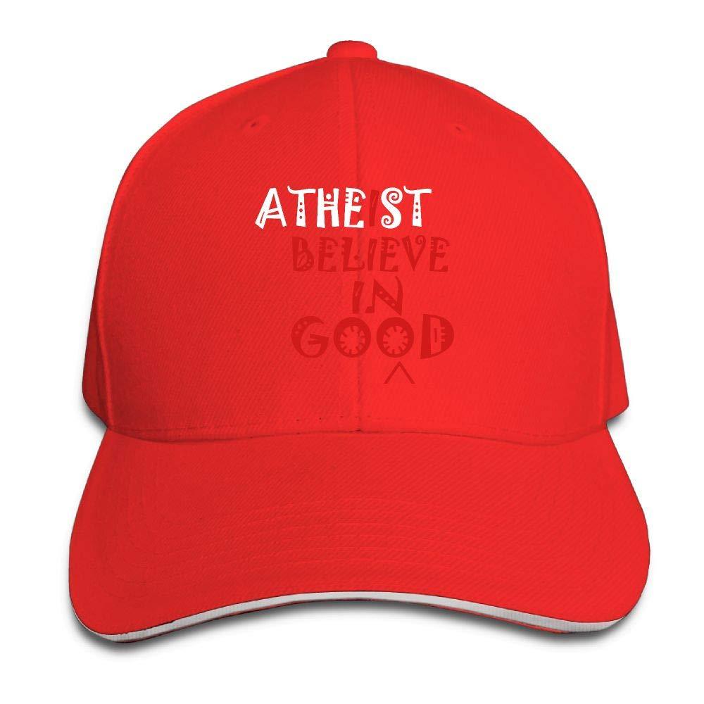 JustQbob1 Atheist I Believe in Good Outdoor Snapback Sandwich Cap Adjustable Baseball Hat Plain Cap