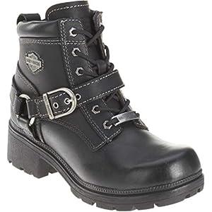 Harley-Davidson Women's Tegan Ankle Boot ,Black,11 M US