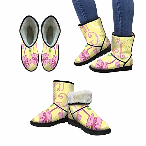 InterestPrint Womens Snow Boots Its a Girl Design Unique Designed Comfort Winter Boots Multi 1 Mw1Qyw8Z