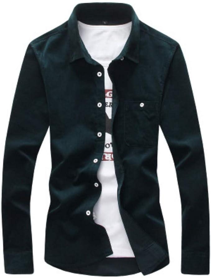 Camisa De Manga Larga De Pana para Hombres, Simple para ...
