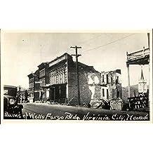 Ruins of Wells Fargo Building Virginia City, Nevada Original Vintage Postcard