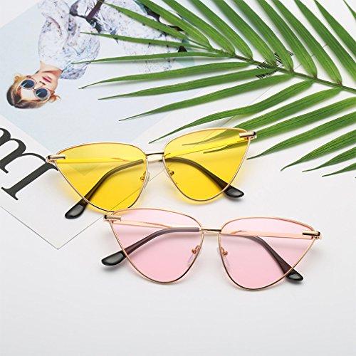 JAGENIE Sol Gafas 6 5 Designer Marco Gafas Gato Ojo Moda Tonos UV400 Vintage Gafas Mujer de Marca Metal qrUqY
