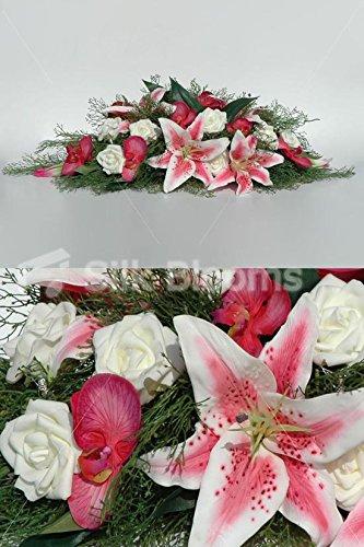 Amazon White Fuchsia Pink Stargazer Lily Rose Orchid Top
