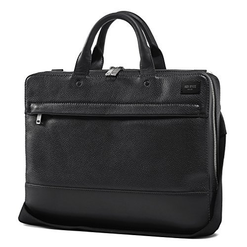 Jack Spade Pebble Leather Slim Briefcase Bag, Fits 15'' Laptop - Black by Jack Spade
