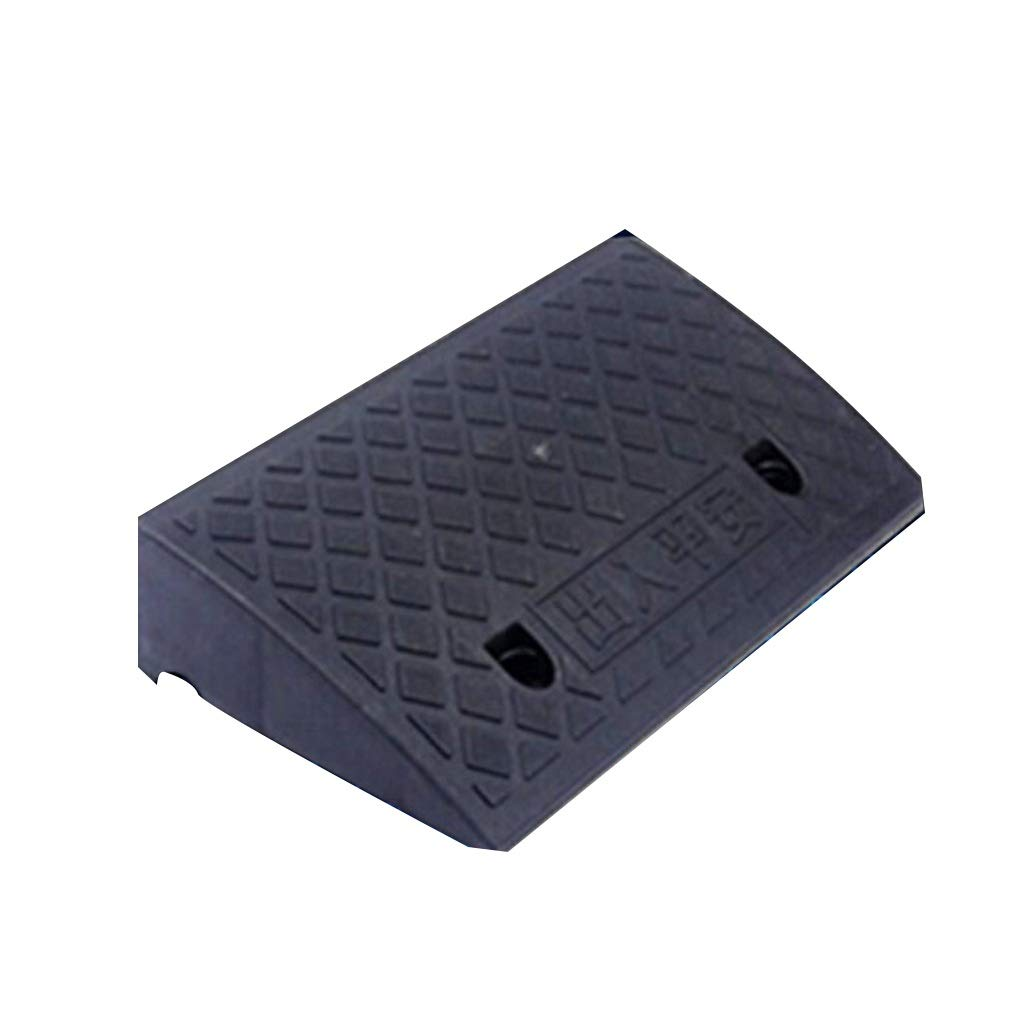 CSQ Ramps Plastic Road Tooth Pad, Bicycle Uphill Non-Slip Mat Wheelchair Curb Road Mat Electric Car Slope Pad Kerb Ramps (Size : 50 * 26.5 * 13.5CM)