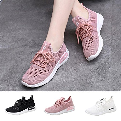 Soft Mesh Breathable Walking Shoes Pink Comfortable Sports Gym Running Women Sneakers Loafers Casual Junior Xqxw14