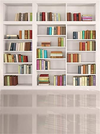 10x6.5ft Bookshelf Background Bookcase Library Book Store Photography Backdrop Photoshoot Props Wall Mural LYFU775