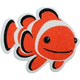 SlipX Solutions Adhesive Bath Treads: Clownfish Tub Tattoos Add Non-Slip Traction to Tubs, Showers & Other Slippery Spots (Kid Friendly, 5 Count, Reliable Grip)