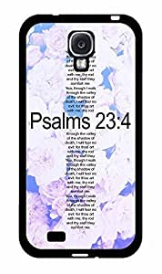 Psalms 23 on Floral Background 2-Piece Dual Layer Phone Case Back Cover Samsung Galaxy S4 I9500 hjbrhga1544