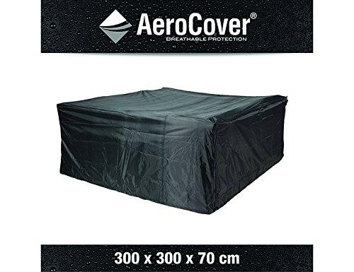 Atmungsaktive, frostbeständige und wasserdichte AeroCover Schutzhülle in anthrazit für Lounge Möbel, in praktischer Tragetasche, 300 x 300 x 70 cm, 7935