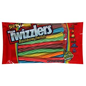 Twizzlers Rainbow Twists, 12.4-Ounce Bags (Pack of 12)