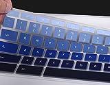 "For ASUS Chromebook C302CA Keyboard Cover, Keyboard Protector Skin for ASUS Chromebook Flip C302CA 12.5"" Chromebook, Ultra Thin Anti Dust Premium Silicone Material, Gradual Blue"