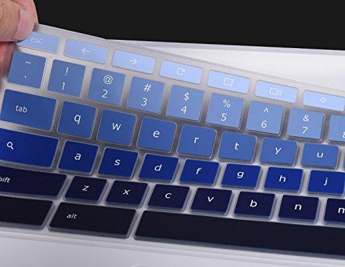 For-ASUS-Chromebook-C302CA-Keyboard-Cover-Keyboard-Protector-Skin-for-ASUS-Chromebook-Flip-C302CA-125-Chromebook-Ultra-Thin-Anti-Dust-Premium-Silicone-Material-Gradual-Blue