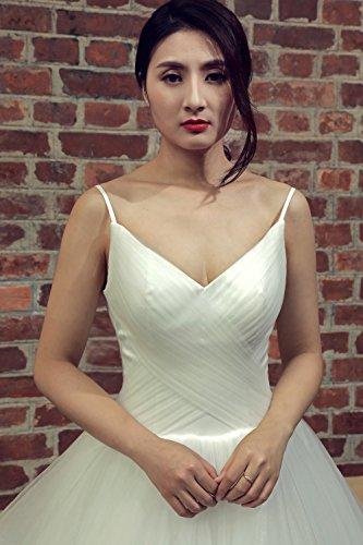Izanoy Damen Ballkleid Prinzessin Prom Dresses Strap Rüschen ...