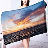 AmaPark Microfiber Towels The Surface of The Dawn Multipurpose, Quick Drying L63 x W31.2 INCH