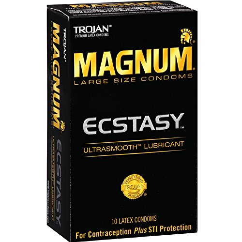 (Trojan Magnum Ecstasy Lubricated Condoms, 10 Count (Pack of 2))