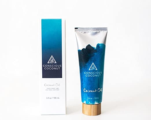 The Conscious Coconut Travel-Ready Coconut Oil Tube travel product recommended by Isabel Savenor on Pretty Progressive.
