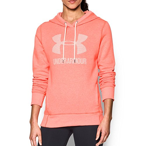 Womens Orange Hoody Sweatshirt (Under Armour Women's Favorite Fleece Sportstyle Hoodie, London Orange Light/White, Small)