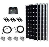 Renogy FK100D-4 400W Solar Panel Starter Kit, Mono