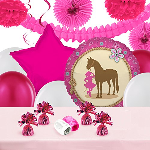 (BirthdayExpress Western Cowgirl Party Decorations - Balloon Table Decorating)