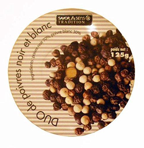 30cm de Haut 125g Poivre Duo Poivre Blanc /& Noir Grand Moulin
