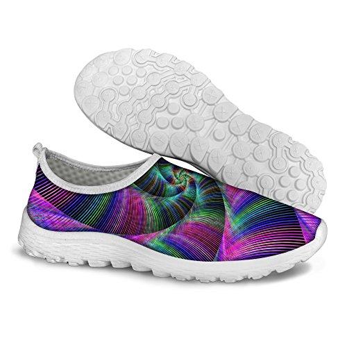 Womens Shoes Print Running Walking Mesh Comfortable DESIGNS Multi U FOR B1 Colorful Stripe 4qvS0nUw