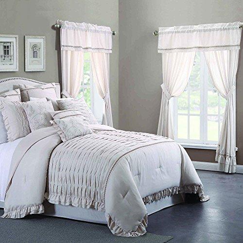 Four Piece Comforter - Amrapur Overseas Antonella Sand 24-Piece Comforter Set, King,
