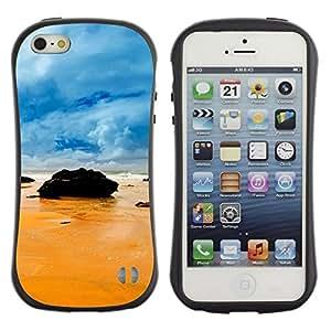 Suave TPU GEL Carcasa Funda Silicona Blando Estuche Caso de protección (para) Apple Iphone 5 / 5S / CECELL Phone case / / Rocks on the beach /