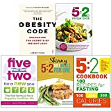 img - for Obesity code, 5 2 diet recipe book, five two for a new you, 5 2 diet meals for one and 5 2 cookbook 5 books collection set book / textbook / text book