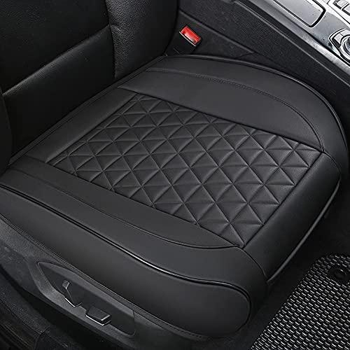 PU Leather Car Seat Cover Anti-Slip Car Front Seat Cushion Edge Wrapping Bottom Pad Fits Auto (Sedan/SUV/Truck/Van/MPV) 21.26