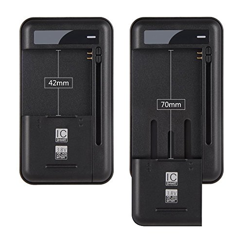 Onite Universal Battery Charger with USB Output Port for 3.8V High-voltage Battery of Samsung Galaxy S2 S3 S4 J5, Note 2 3, Edge, Mega, LG Optimus G G2 G3