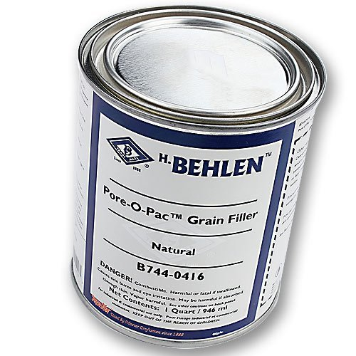Pore-O-Pac Paste Wood Grain Filler, Natural, 1 Quart by Behlen by Behlen (Image #1)