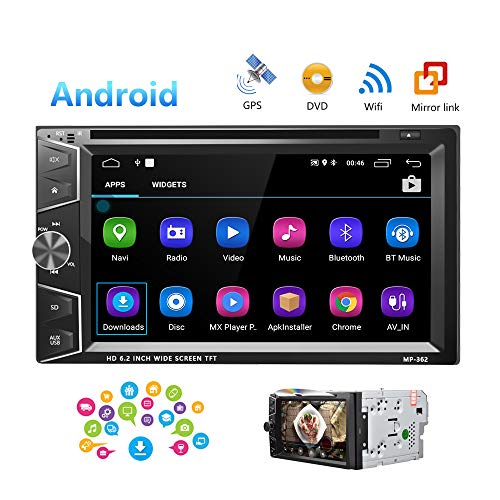 Camecho Double Din Android Car Stereo Radio 6.2