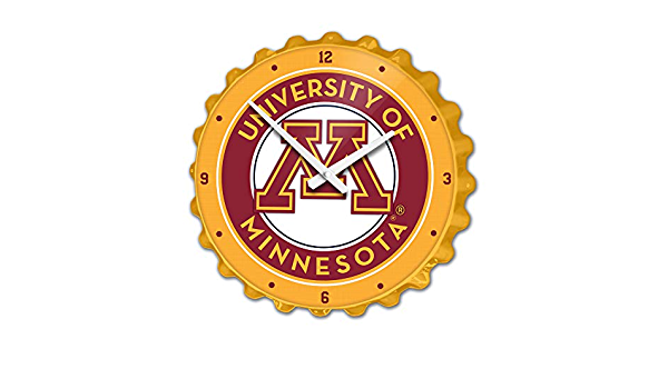 Minnesota Golden Gophers Bottle Cap Wall Clock Primary Maroon Made in USA