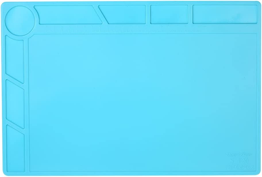 HeavenSense Maintenance Mat Electronics Disassembly BGA Soldering Repair Platform Pad with Ruler Screw Notches