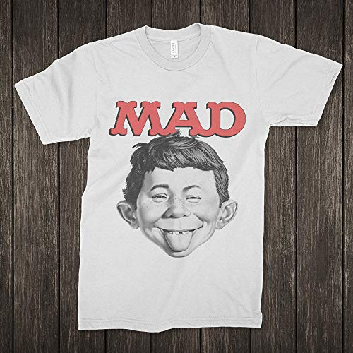 Mad Magazine T-Shirt, Boy Alfred E. Neuman Tee, Men's Women's All Sizes Gift T-Shirt for Men Woman