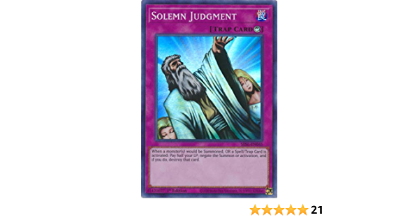 Playset x3 Solemn Judgment Super Rare SESL-EN045 YuGiOh