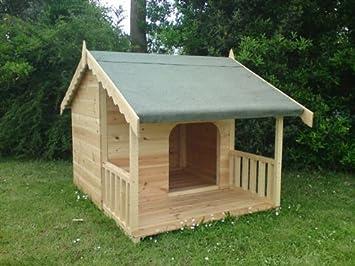 Perrera bestdeal promediado con porche modelo nuevo diseño para 2013 para 2 perros: Amazon.es: Jardín