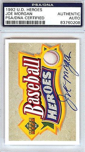 Joe Morgan Signed 1992 Upper Deck Heroes Trading Card - C...
