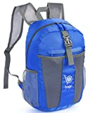 Bago Lightweight Backpack. Waterproof Collapsible Rucksack for Travel and Sports. Foldable and Packable Daypack for Adults, Men and Women, Teens and Children.