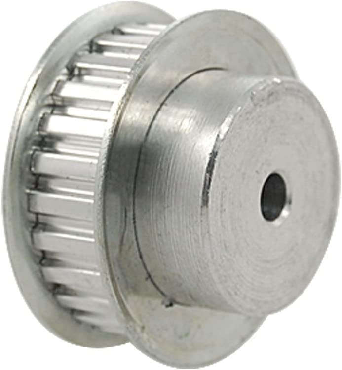 uxcell/® Aluminum 20 Teeth 5mmx4.5mm D-Shape Bore 16mm Belt Timing Idler Pulley Wheel Silver Tone