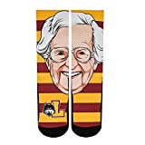 Authentic & Officially Licensed Loyola Chicago Ramblers Sister Jean Women's Crew Socks – Maroon - Fun Gift or Collectible!