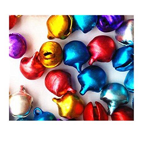 - Lilith li DIY Metal Multi-color Process Decorative Holiday Colored Jingle Bells Packing: 200pcs / set