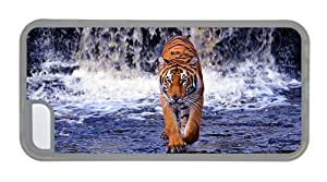 Hipster best iPhone 5C covers bengal tiger TPU Transparent for Apple iPhone 5C