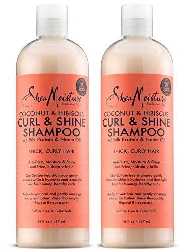 SheaMoisture Coconut & Hibiscus Curl & Shine Shampoo | 16 fl. oz.