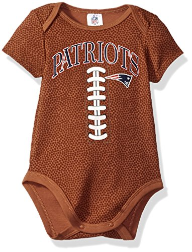 NFL New England Patriots Boys Football Bodysuit, 3-6 Months, Brown