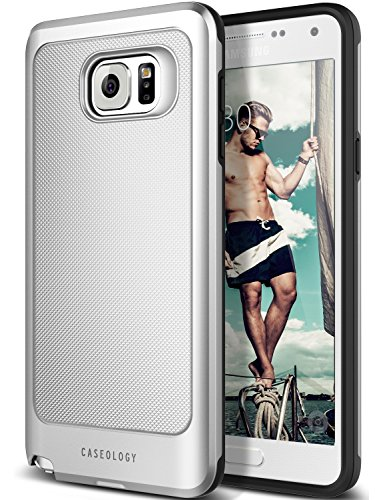 Slim Fit Hybrid Case for Samsung Note 5 (Silver) - 8