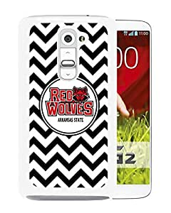 NCAA Arkansas State Red Wolves 9 White LG G2 Protective Phone Cover Case
