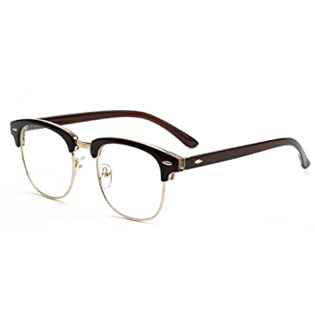 322add64e898 M-Egal New Designer Round Men Glasses Retro Fashion Black Women Glasses  Frame NO.6