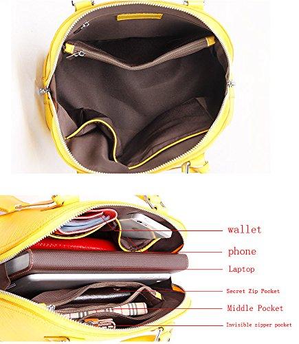 Di Donna Giallo Designer Retro In black Sakutane Hbbb0014 Forma Della Black Borse A Da Tote Pelle Tracolla Vera nero 51nUYwXq